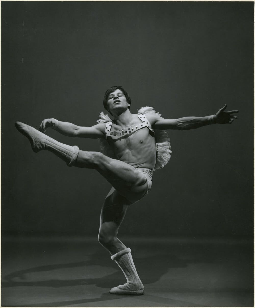 George Platt Lynes's 1951 photograph of ballet performer Jean Babilee in 'L'Amour et son Amour.' Gelatin silver print, 10-1/2 × 12-1/2 in. From the Collections of the Kinsey Institute, Indiana University. © Estate of George Platt Lynes.