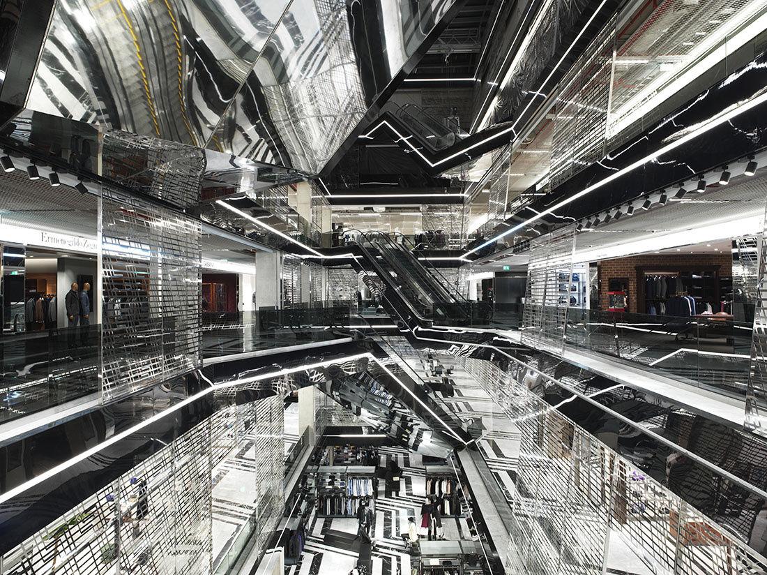 Interior of the Aïshti Foundation, Beirut, which opened in October 2015. Photo© Guillaume Ziccarelli / Aïshti Foundation.