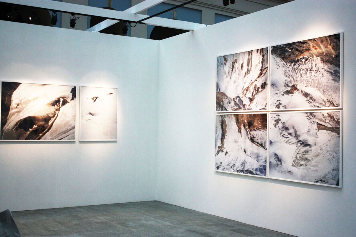 Installation view of Telli's booth at Cosmoscow, 2015. Photo by Yulia Topchiy.