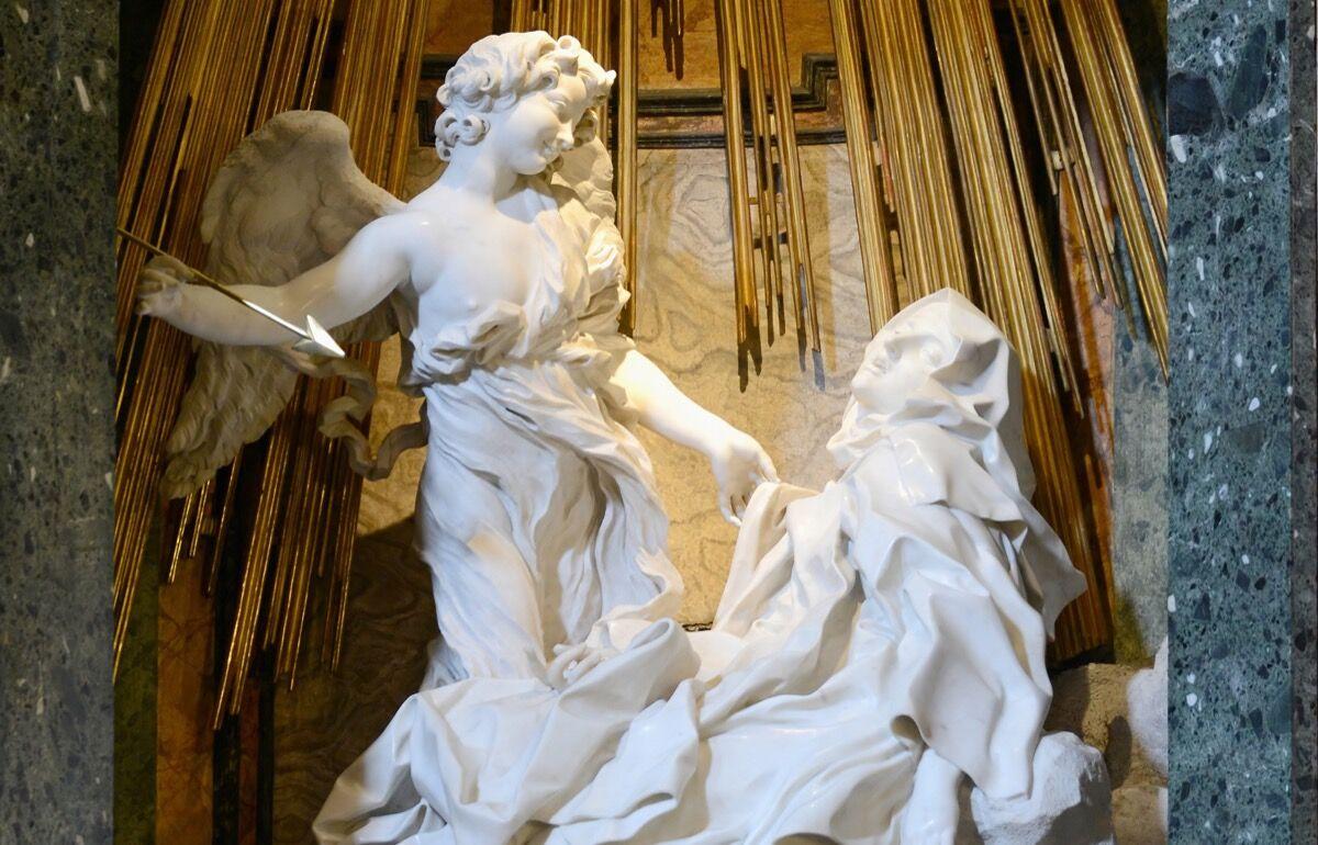 Gian Lorenzo Bernini, The Ecstasy of Saint Teresa, 1647–52. Via Wikimedia Commons..