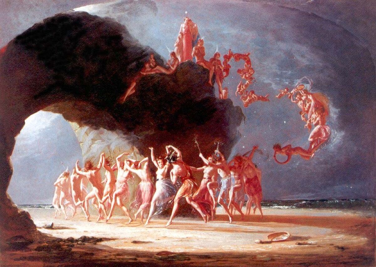 Richard Dadd, Come unto These Yellow Sands, 1842. Image via Wikimedia Commons.