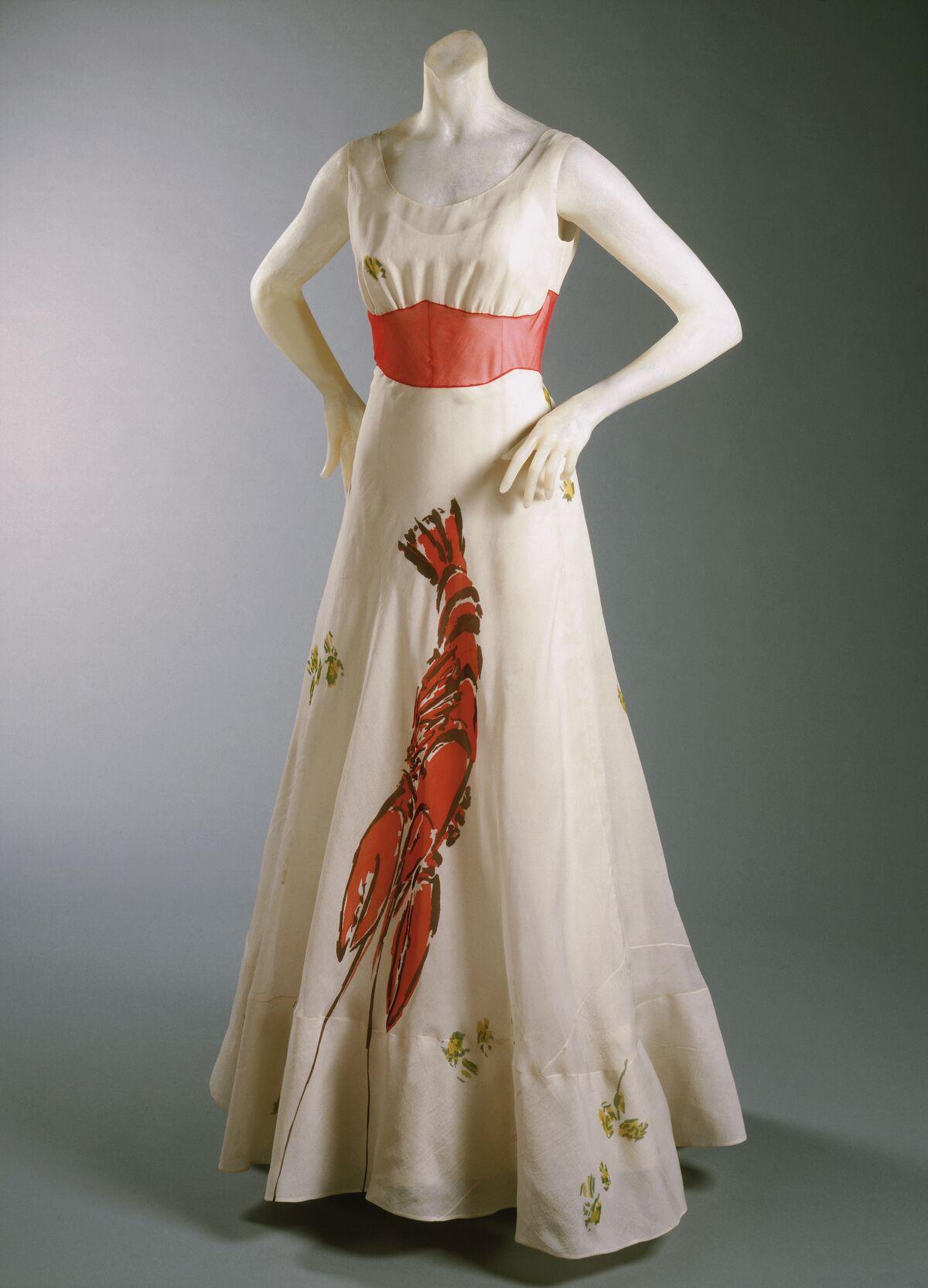 Woman's Dinner Dress. Philadelphia Museum of Art, Gift of Mme Elsa Schiaparelli.