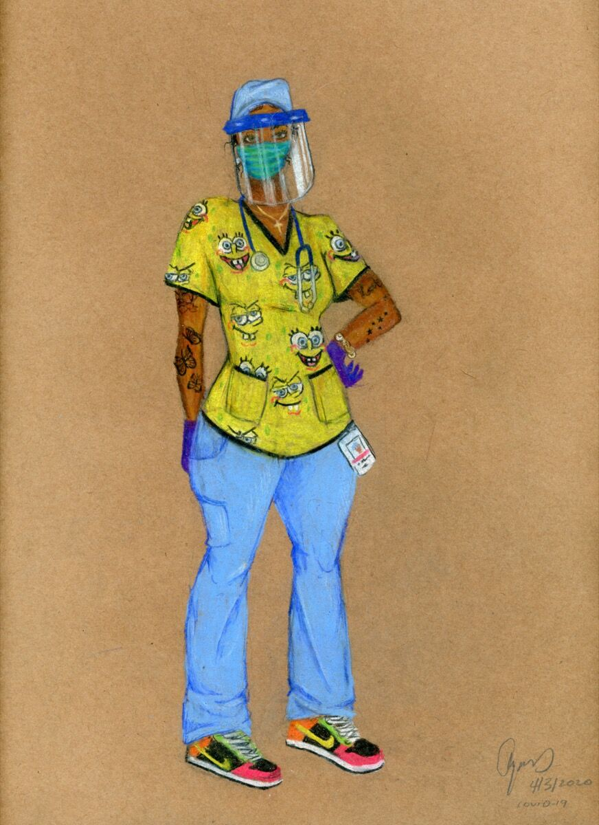 Aya Brown, Nurse 1, COVID-19, 2020. Courtesy of the artist.