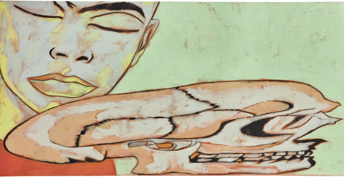 Francesco Clemente, The Skull, 1997. Courtesy of Sotheby's.