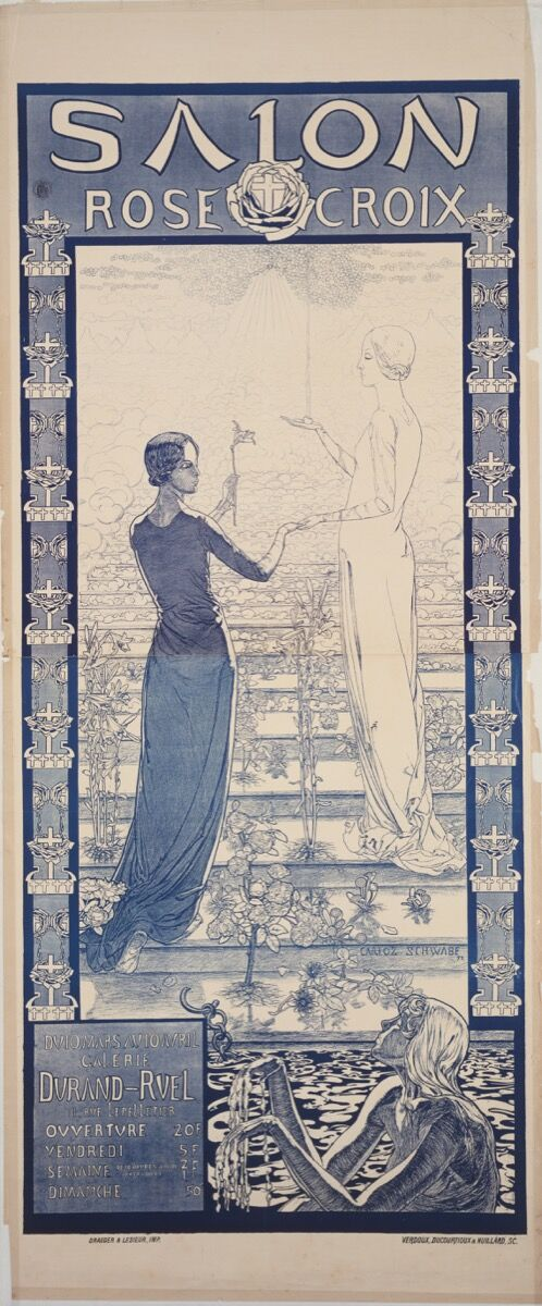 Carlos Schwabe, Poster for the first Salon de la Rose+Croix, 1892. Digital image © The Museum of Modern Art/SCALA/Art Resource, New York.