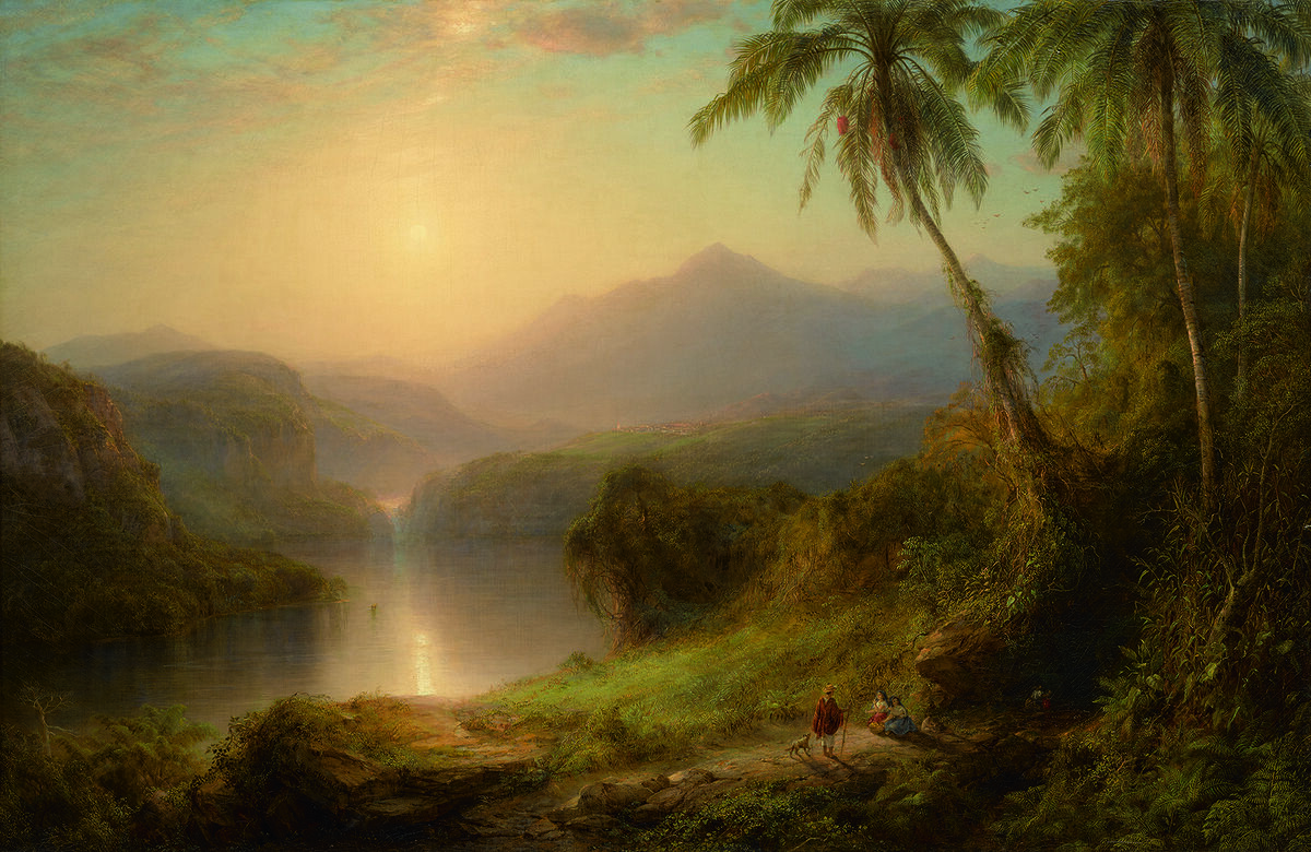 Frederic Edwin Church, Valley of the Santa Ysabel, 1875. Courtesy of Sotheby's New York.