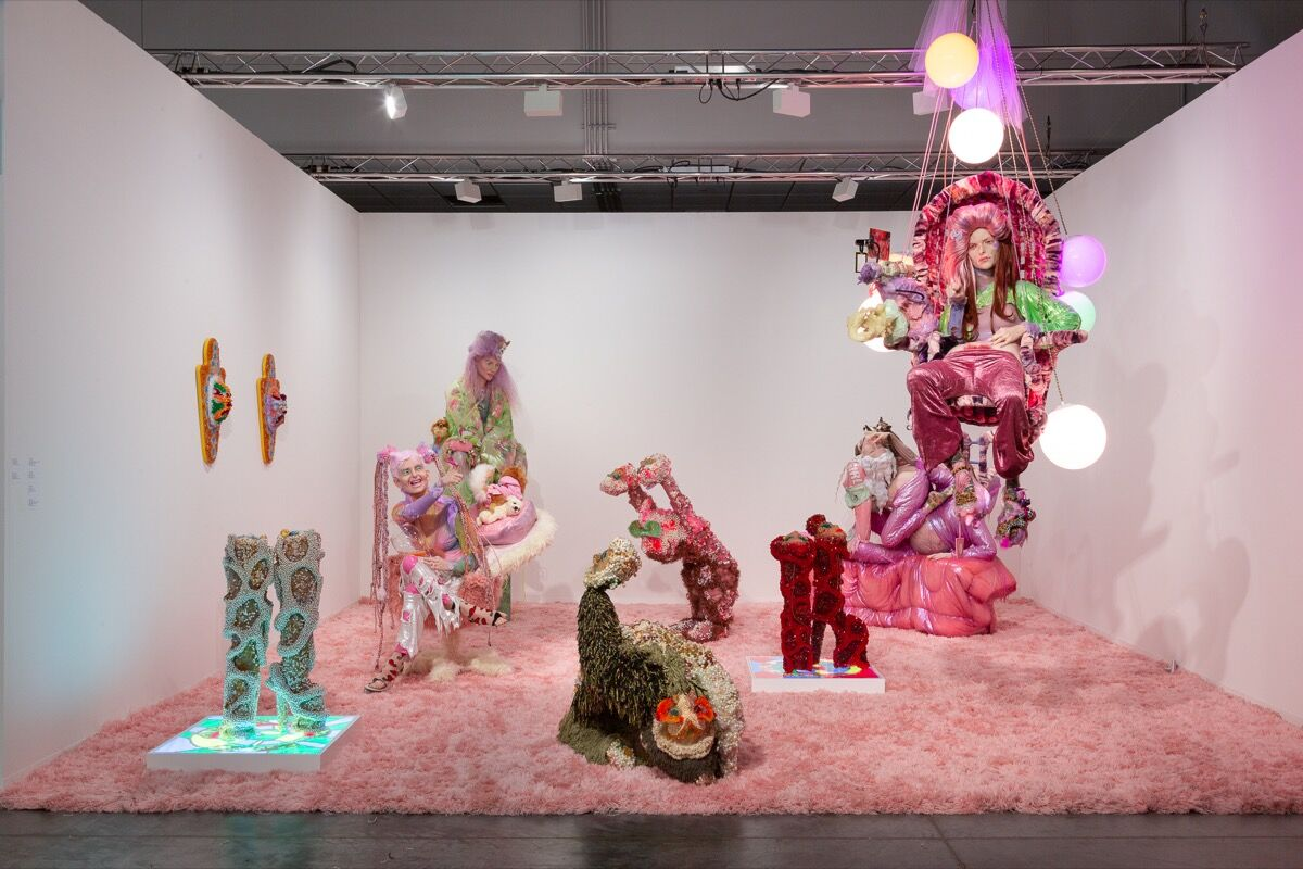Installation view of Company Gallery's booth at Art Basel in Miami Beach, 2019. Photo by Daniel Terna. Courtesy of the artists and Company Gallery, New York