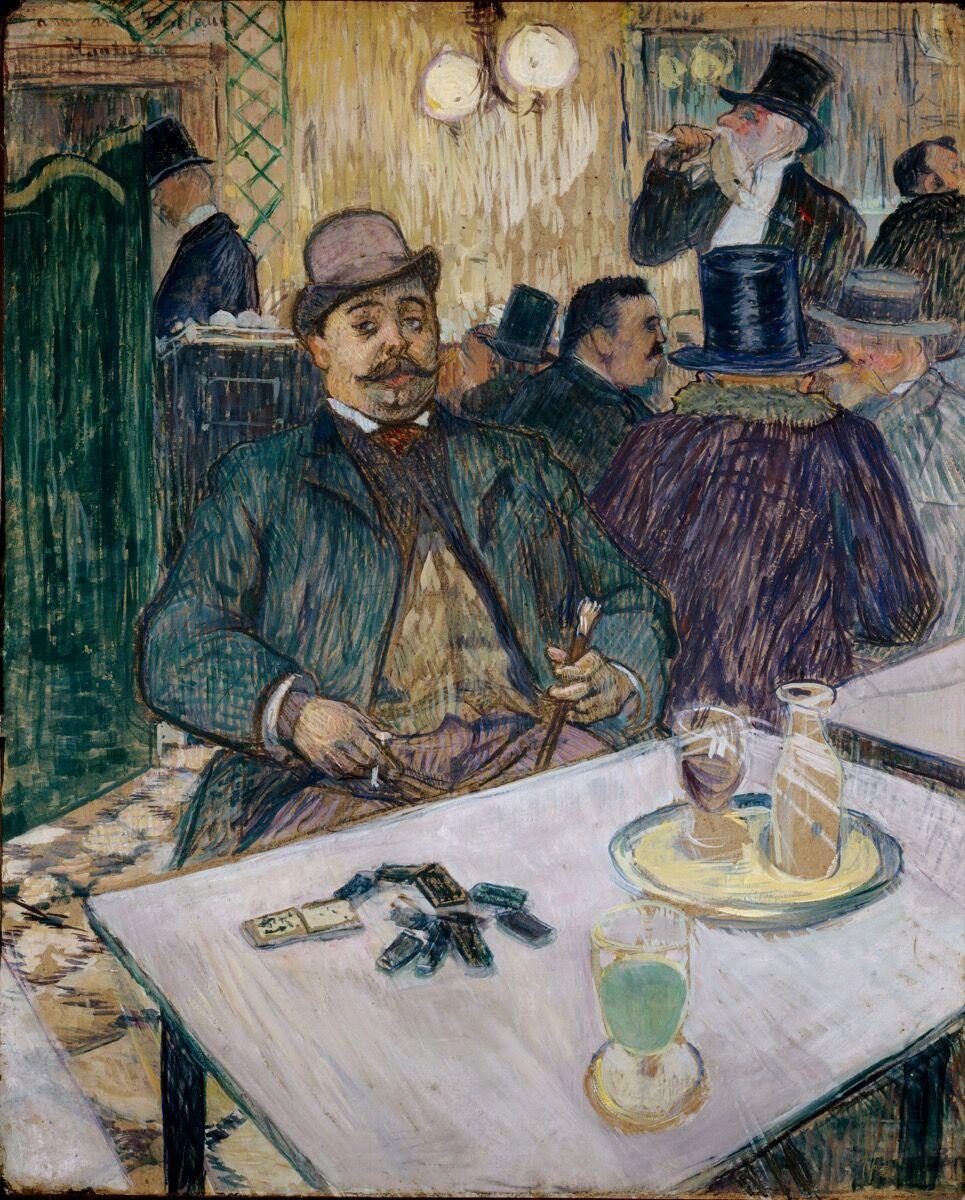 Henri de Toulouse-Lautrec, Monsieur Boileau at the Café, 1893. Courtesy of the Cleveland Museum of Art.