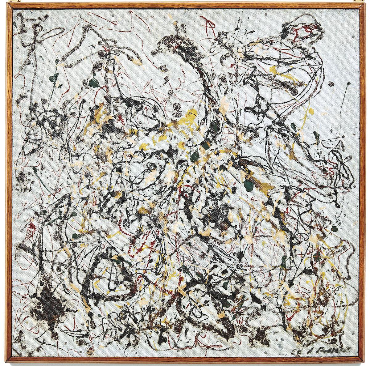 Jackson Pollock, Number 16, 1950, oil on masonite. Image courtesy Phillips.