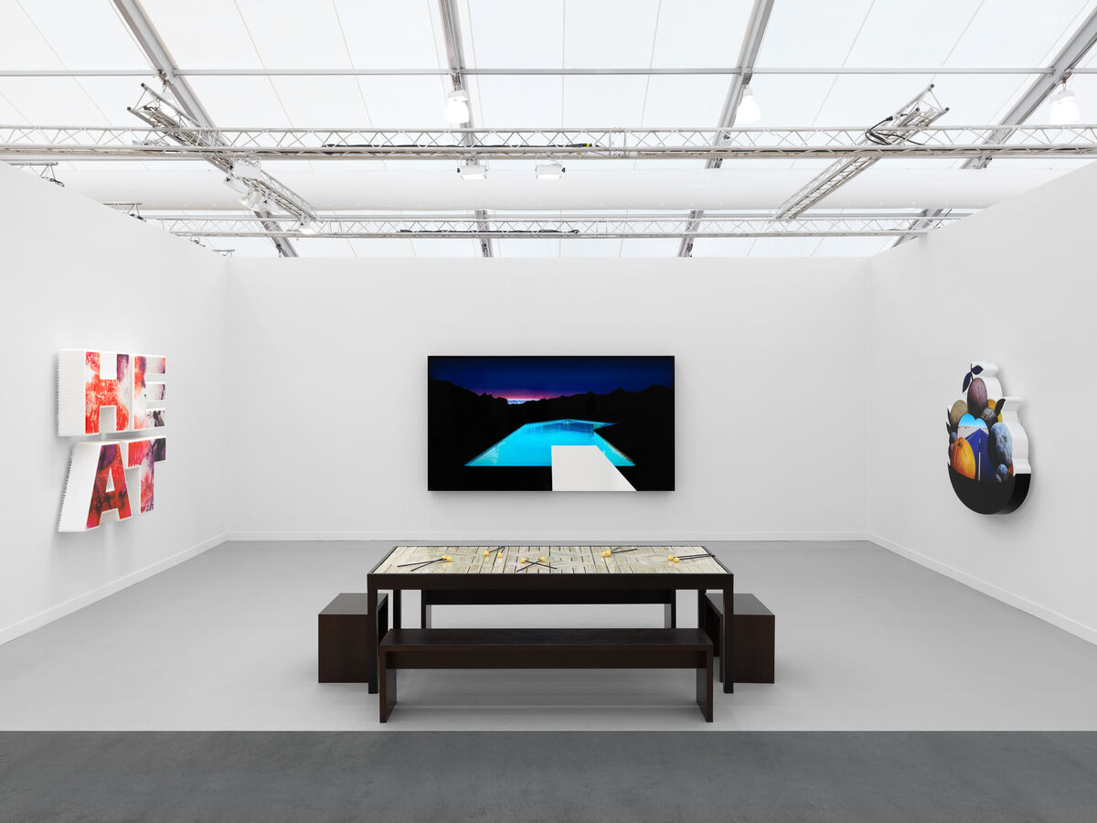 Installation view of Doug Aitken solo presentation at 303 Gallery's booth at Frieze Los Angeles, 2019. © 303 Gallery, New York. Courtesy of 303 Gallery.