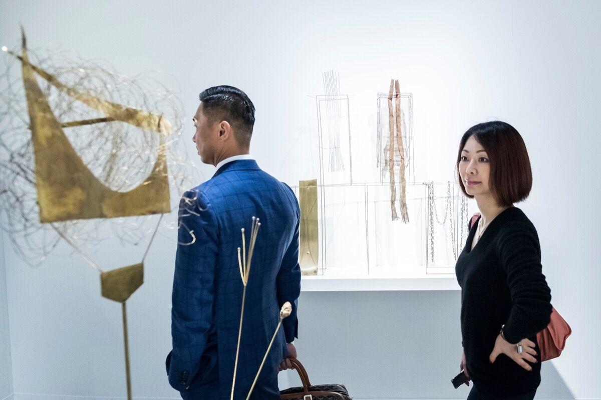 Installation view of Mazzoleni's booth at Art Basel in Hong Kong, 2018. © Art Basel. Courtesy of Art Basel.