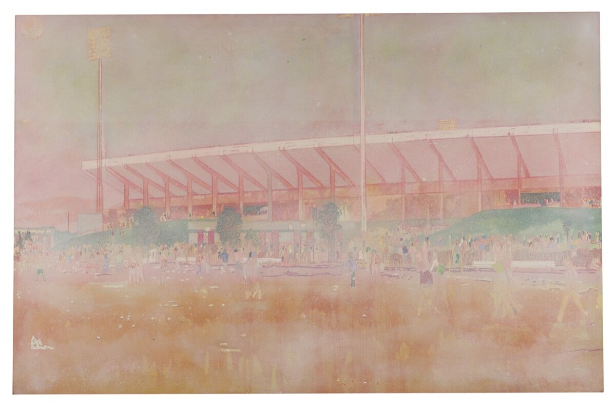 Peter Doig, Buffalo Station I, 1997–98. Courtesy of Sotheby's.