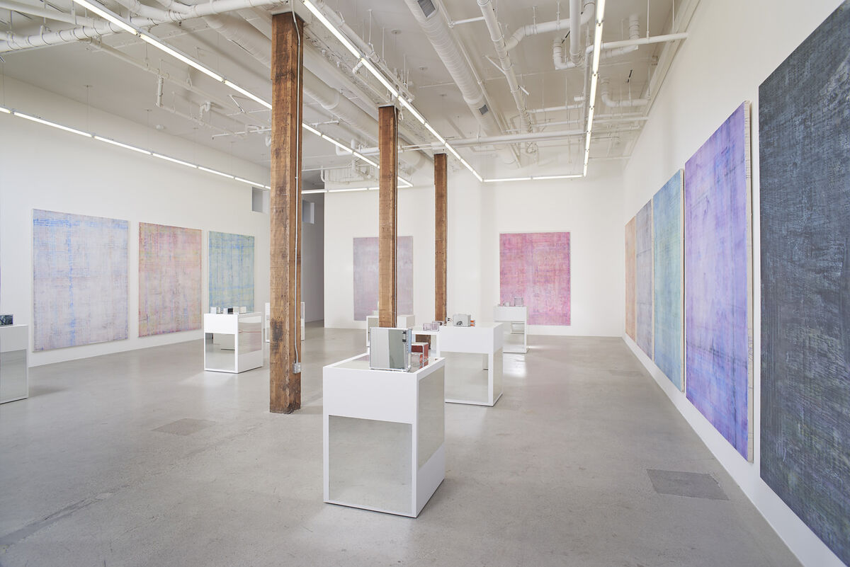 """Installation view of Dashiell Manley's """"Time seems sometimes to stop."""" Courtesy of Jessica Silverman Gallery."""