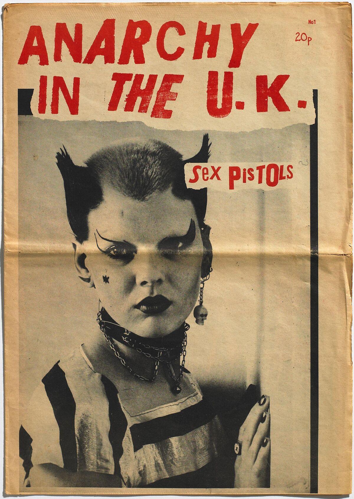 Sex Pistols: Anarchy in the U.K., No. 1, fanzine, Glitterbest, 1976. Courtesy of Toby Mott/Mott Collection, London.