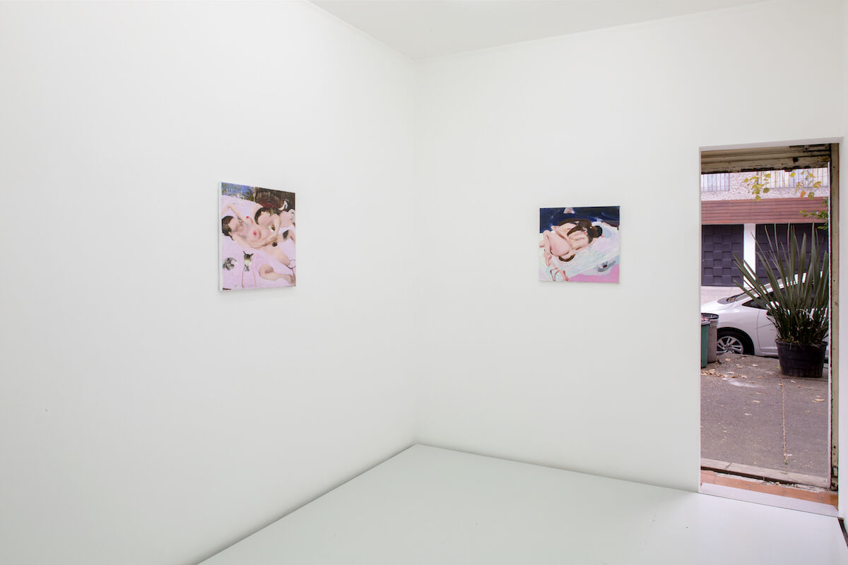 "Installation view of Ambera Wellmann, ""In medias res"" at Lulu, Mexico City, 2019. Courtesy of the artist, Lulu, Mexico City, and Kraupa­Tuskany Zeidler, Berlin. Photo by Ramiro Chaves."