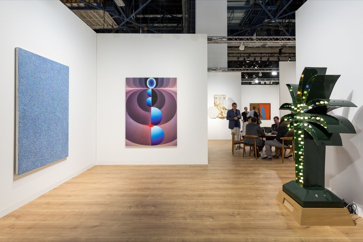 Installation view of Pace Gallery's booth at Art Basel in Miami Beach, 2017. Photo by Alain Almiñana for Artsy.