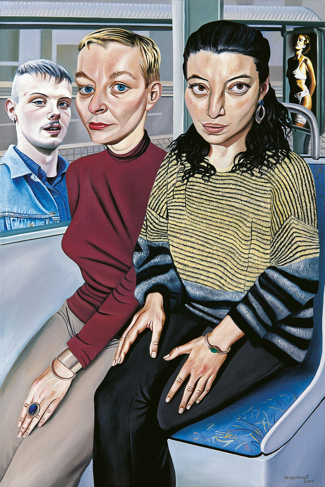 Norbert Wagenbrett, In der Strassenbahn (In the Tram), 2001. © VG Bild-Kunst Bonn 2020. Courtesy of the artist.