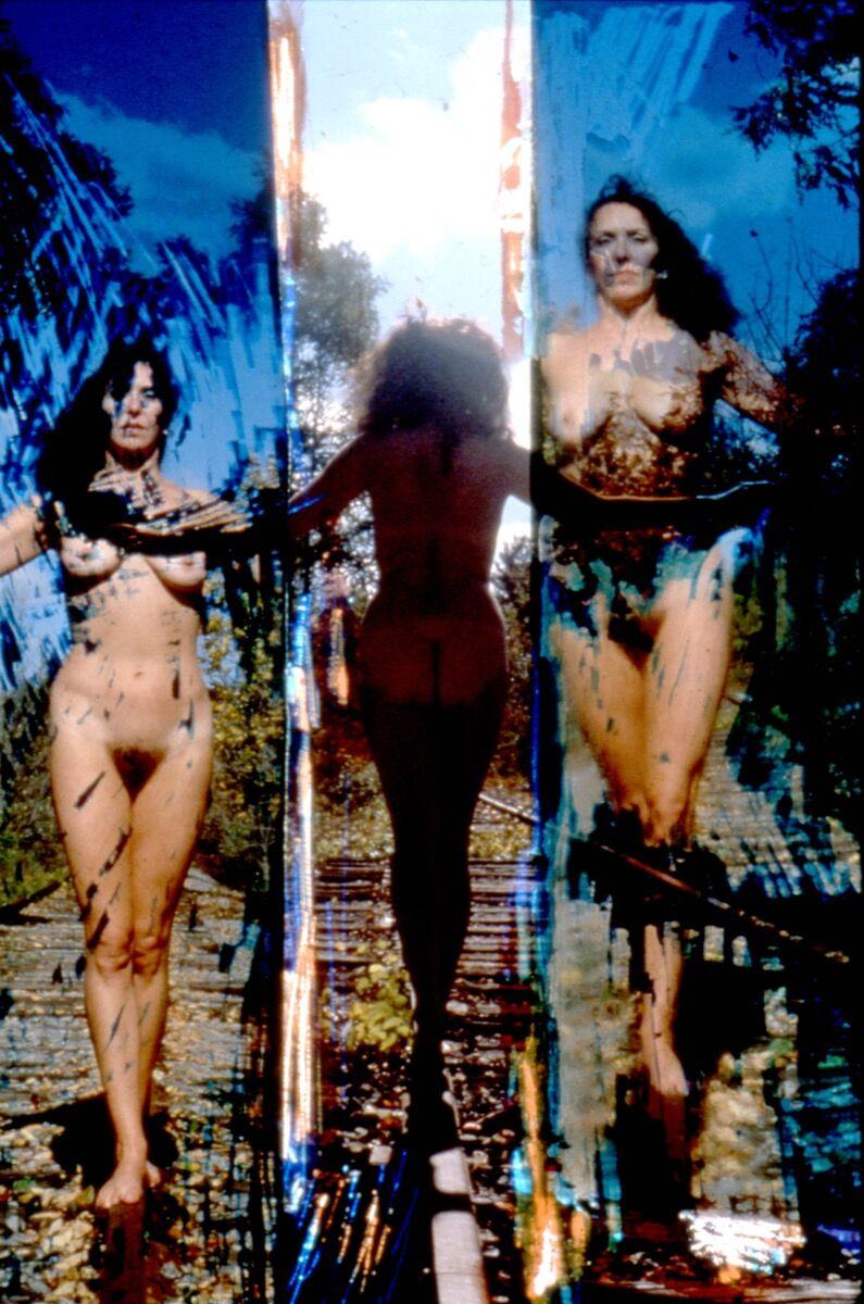 Carolee Schneemann, Nude on Tracks, 1962-77. Courtesy of MoMA PS1.