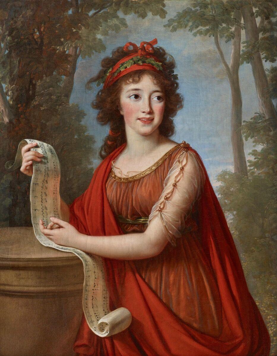 Elisabeth Louise Vigée Le Brun, Portrait of Maria Franzcisca Palffy, 1793. Courtesy Galerie Eric Coatalem.