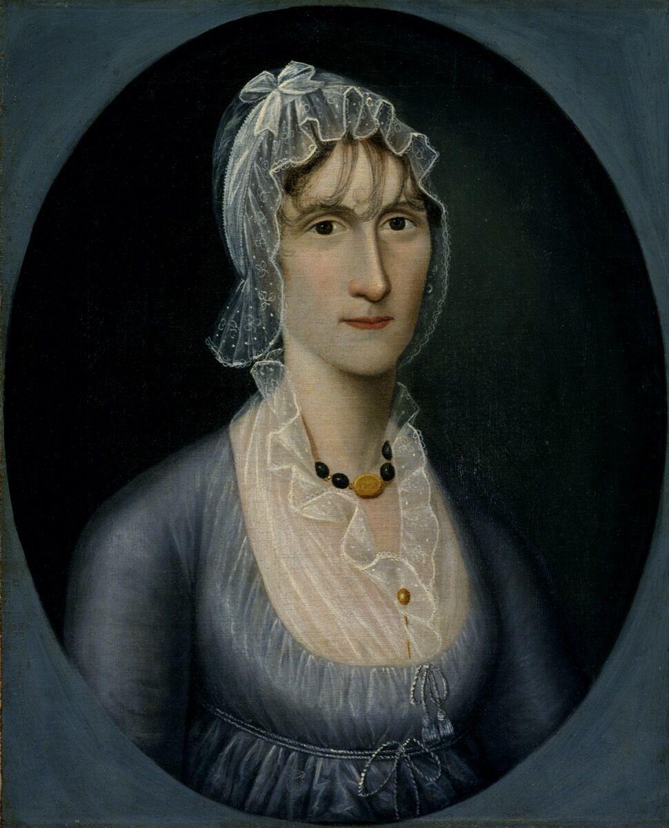 Joshua Johnson, Portrait of Mrs. Barbara Baker Murphy (Wife of Sea Captain), c. 1810. Courtesy of Smithsonian American Art Museum.
