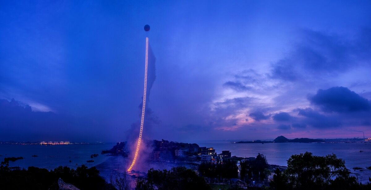 Cai Guo-Qiang, Sky Ladder, June 2015. Courtesy of Cai Studio.