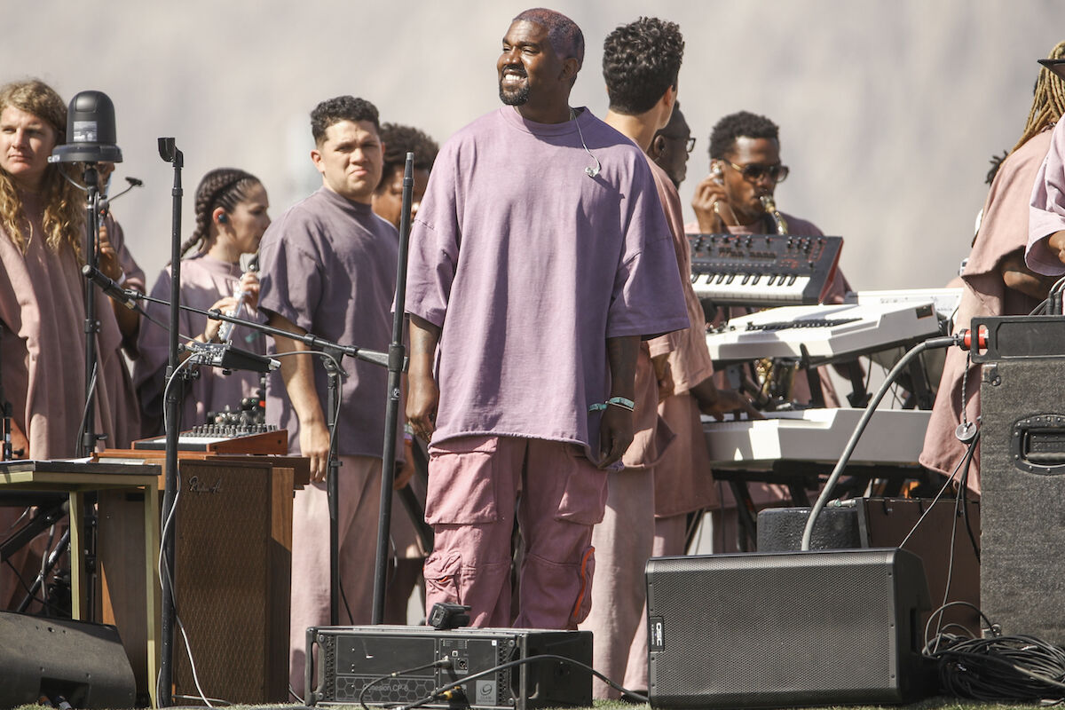 Kanye West performs Sunday Service during the 2019 Coachella Valley Music and Arts Festival. Photo by Rich Fury/Getty Images for Coachella