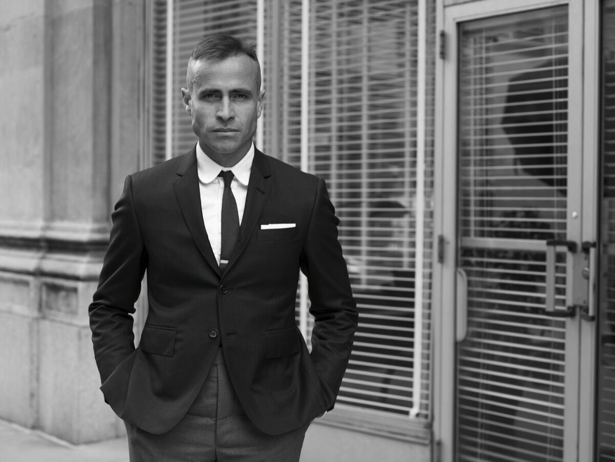 Portrait of Thom Browne courtesy of Circe.