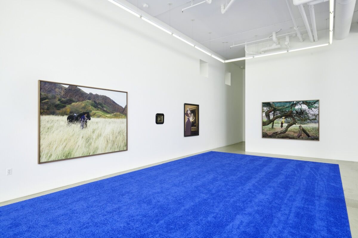 """Isaac Julien, installation view of """"Isaac Julien's America"""" at Jessica Silverman Gallery, San Francisco, 2020. Photo by John Wilson White. Courtesy of the artist; Victoria Miro Gallery, London; and Jessica Silverman Gallery, San Francisco."""