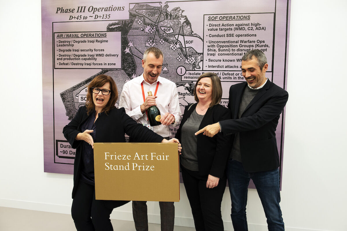 Sprüth Magers won the 2018 Stand Prize at Frieze London. Photo by Linda Nylind, courtesy of Linda Nylind/Frieze.