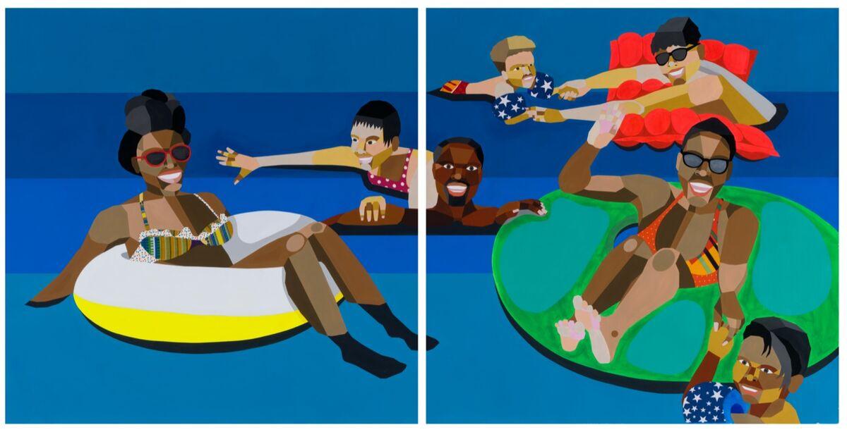 Derrick Adams, Floater 93, 2020. © Derrick Adams. Courtesy of the artist and Rhona Hoffman Gallery.