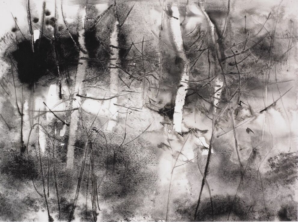 William Thon, The Birches (post-macular), 1996. Courtesy of The Vision and Art Project.
