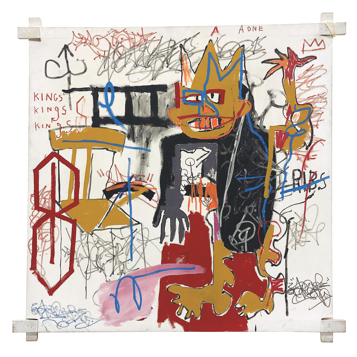 Jean-Michel Basquiat, Portrait of a one A.K.A Kings, 1982. Est. $10 million–15 million. Courtesy Phillips.