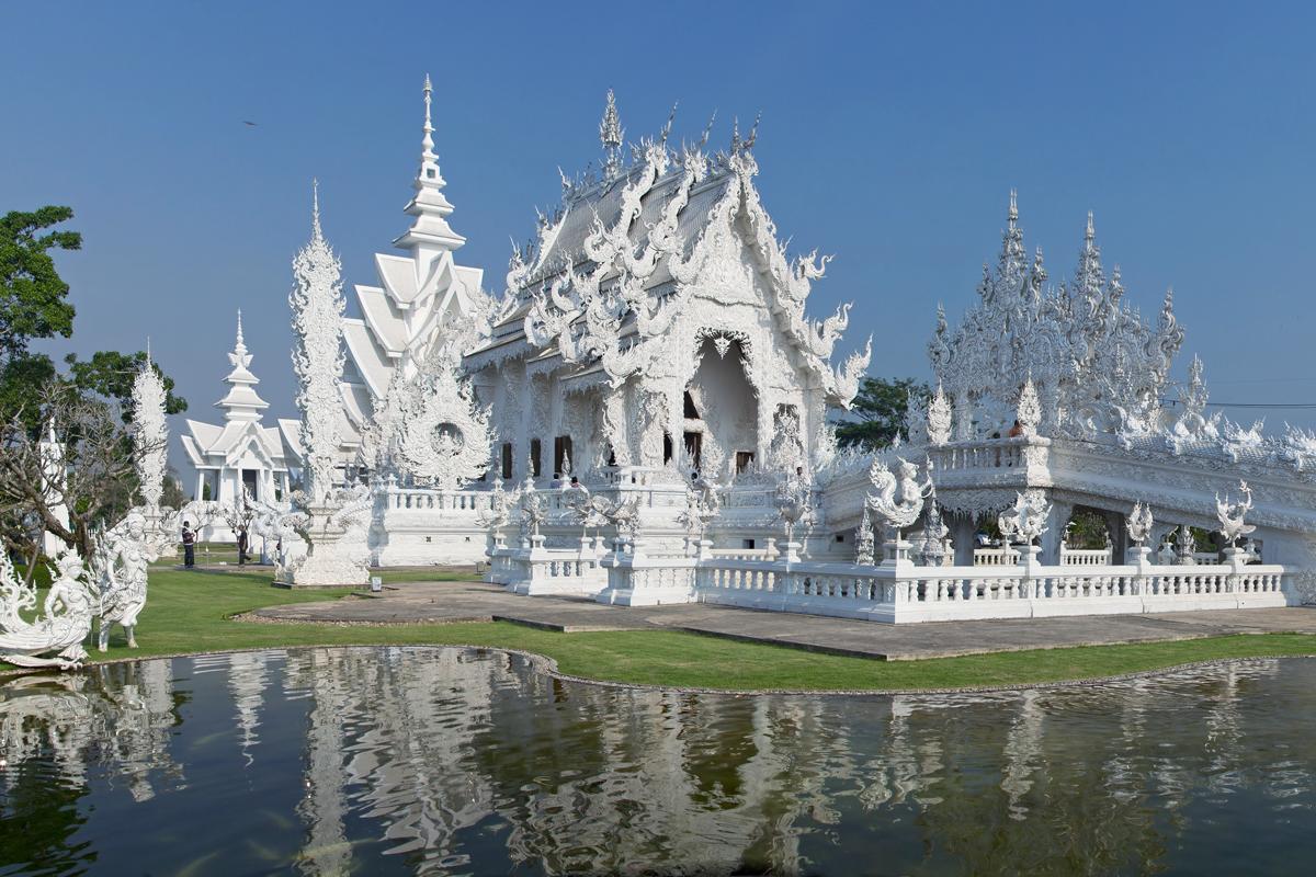 Wat Rong Khun, Chiang Rai, Chiang Rai Province, Thailand. Photo by JJ Harrison, via Wikimedia Commons.