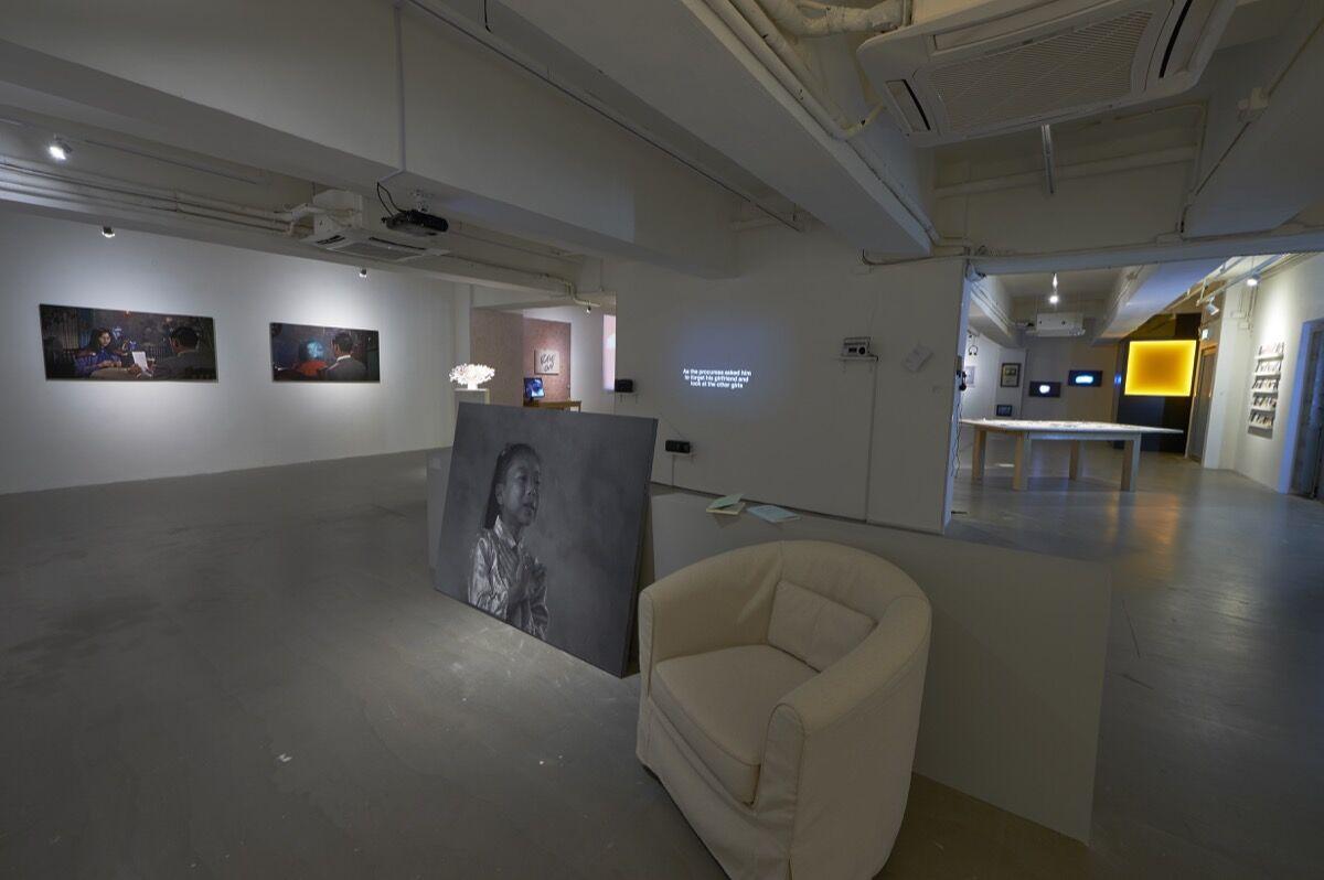 """Installation view of """"Crush"""" at Para Site, Hong Kong, 2018. Courtesy of Para Site."""