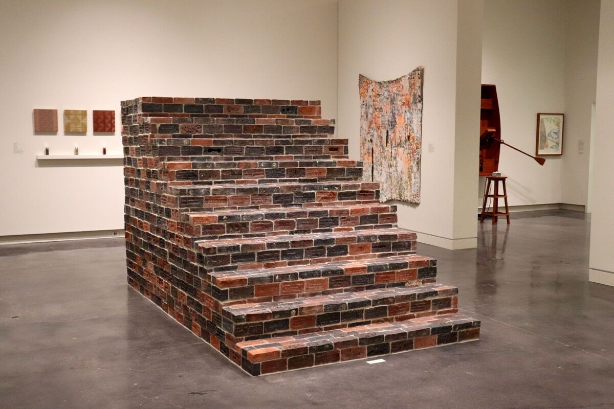 """Installation view of Josh Copus, Threshold, 2019, in """"Appalachia Now!,"""" at the Asheville Art Museum, 2019. Courtesy of the Asheville Art Museum."""