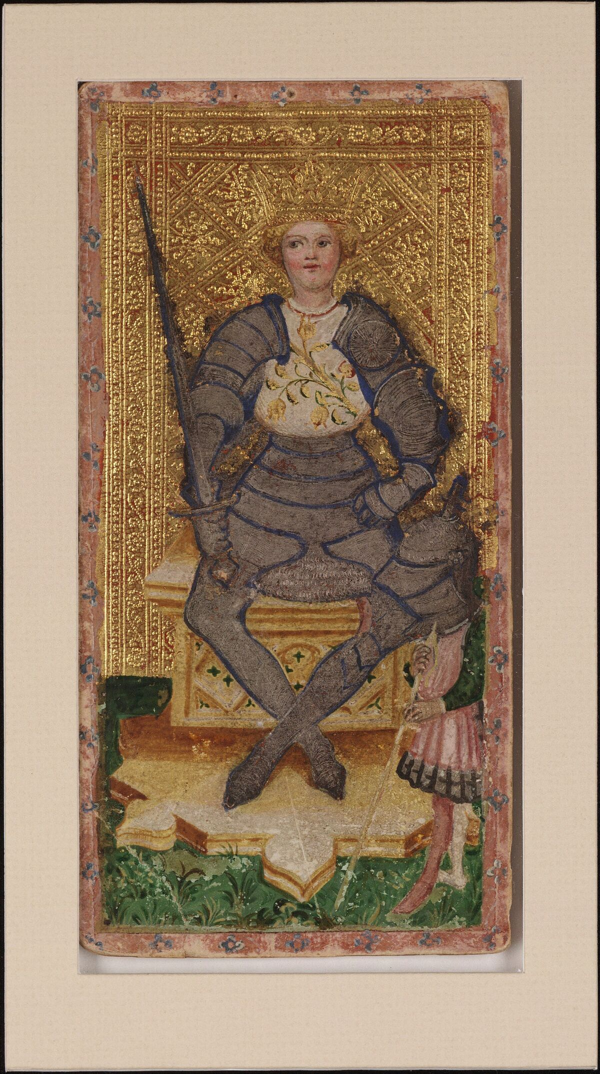 Bembo Bonifacio, The King of Swords, 1428-1447. Visconti Tarot from the Cary Collection of Playing Cards. Courtesy of the Beinecke Rare Book & Manuscript Library at Yale University.