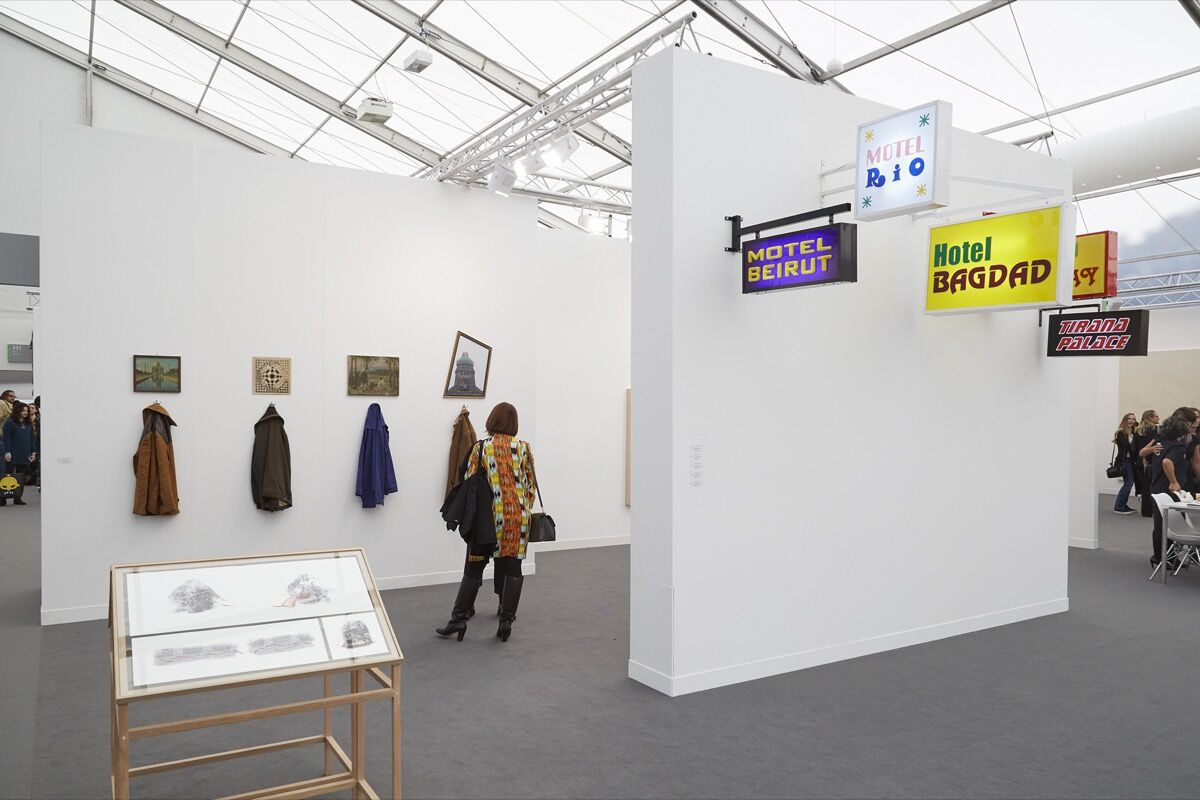 Installation view of Rampa's booth at Frieze London, 2016. Photo by Benjamin Westoby for Artsy.