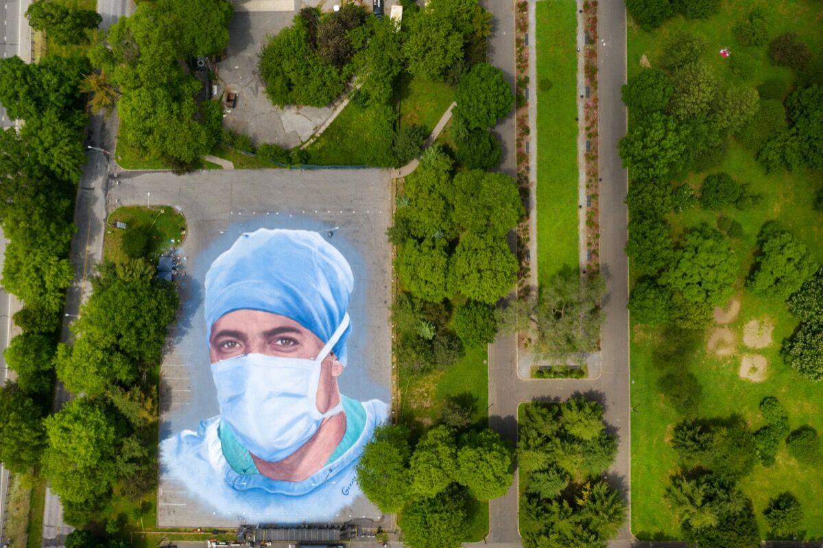 Jorge Rodriguez-Gerada, Somos La Luz, 2020. Courtesy of the artist and GreenPoint Innovations.