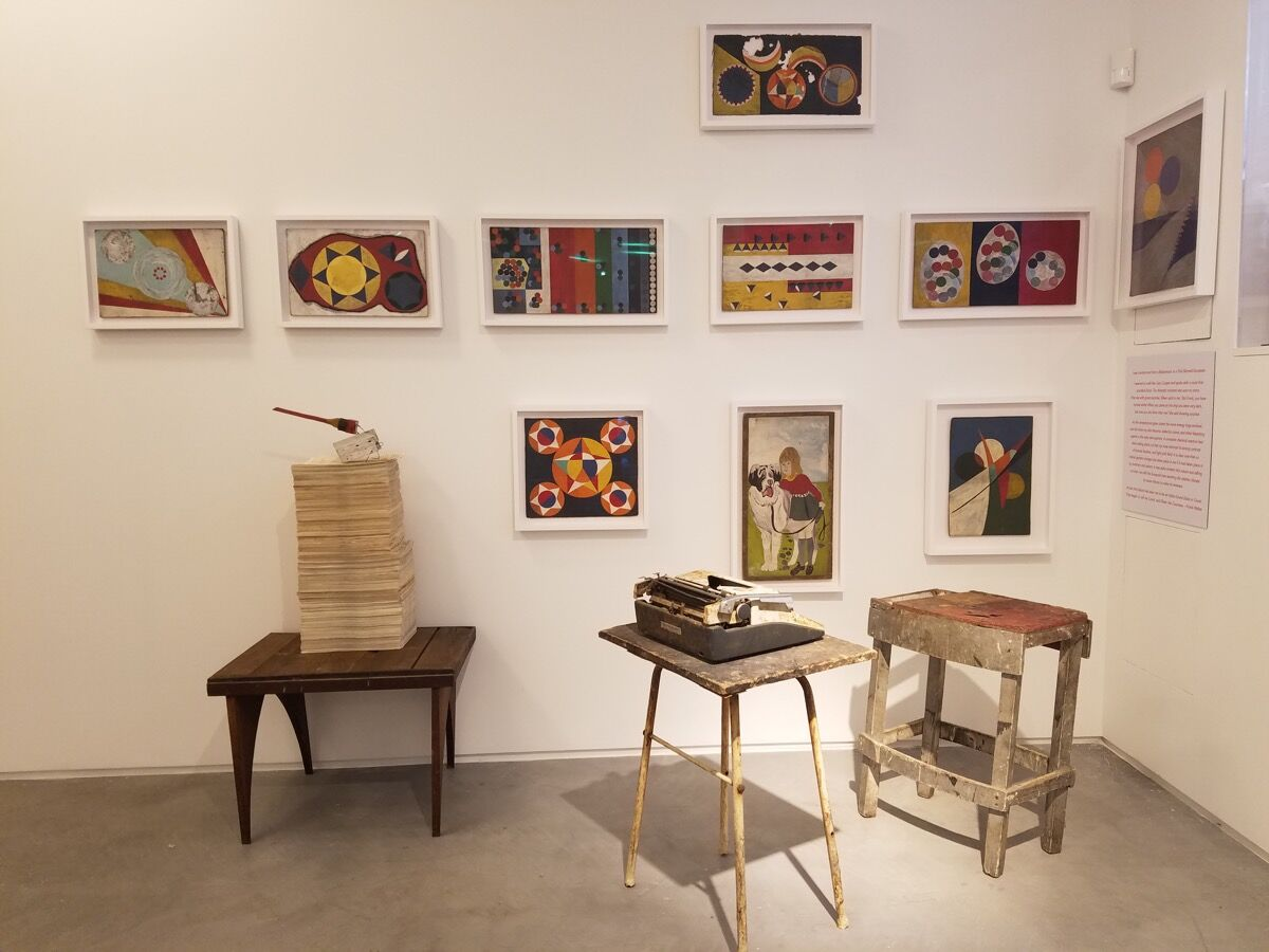 """Installation view of """"Frank Walter: The Last Universal Man 1926-2009"""" on view at the Pavilion of Antigua and Barbuda at the Venice Biennale, 2017."""