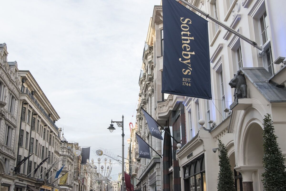 Sotheby's auction house on Bond Street in London. Photo by Smith Collection/Gado/Getty Images.