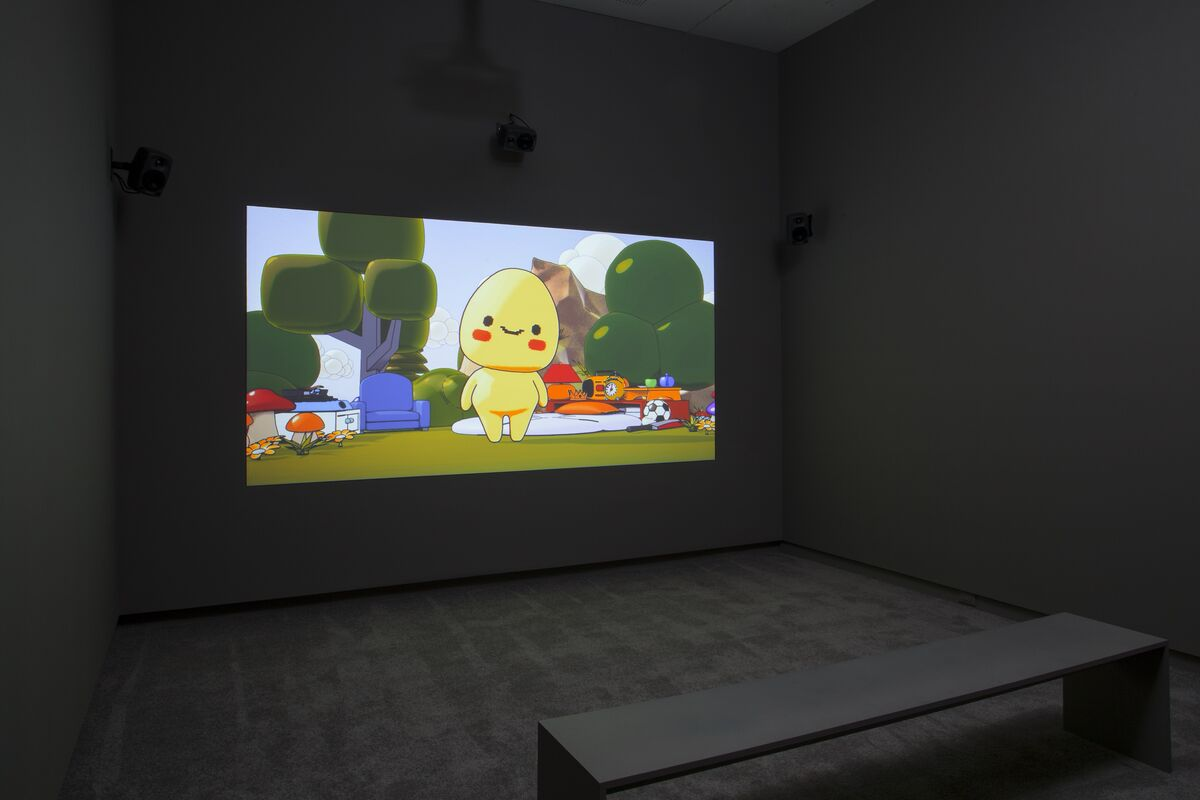 Installation view of Ed Fornieles, TulipFever,2017. Courtesy ofthe artist and Arsenal Contemporary Art New York.