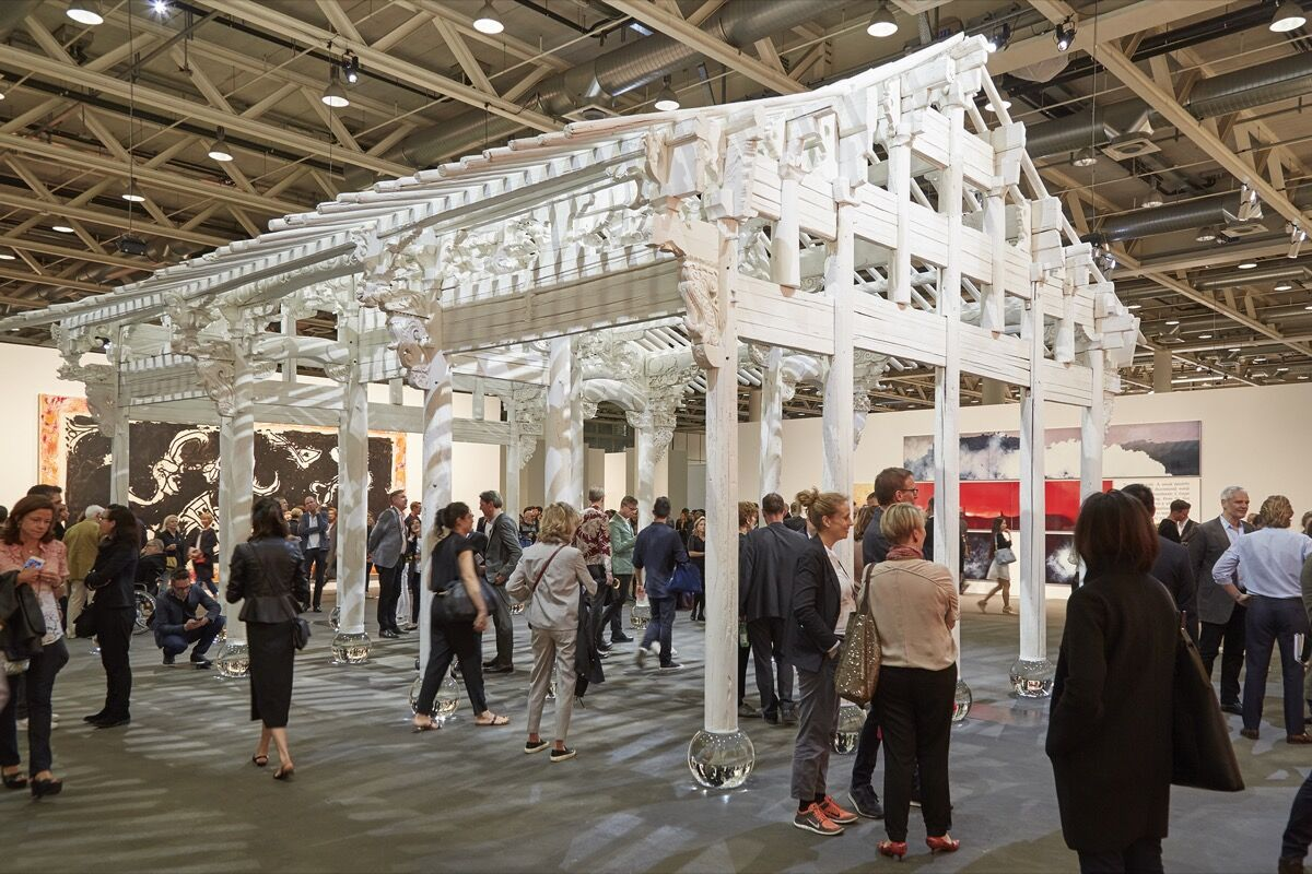 Installation view of Ai Weiwei, White House, 2015, presented by neugerriemschneider at Art Basel Unlimited, 2016. Photo by Benjamin Westoby for Artsy.