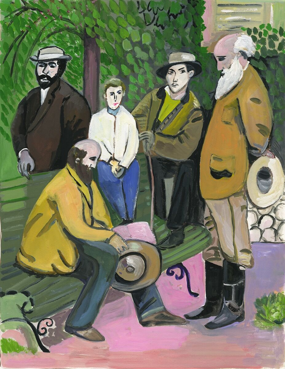 """Maira Kalman, Cezanne and Pisarro,  from  """" The Autobiography of Alice B Toklas,"""" 2019. Courtesy of Julie Saul Projects, New York."""