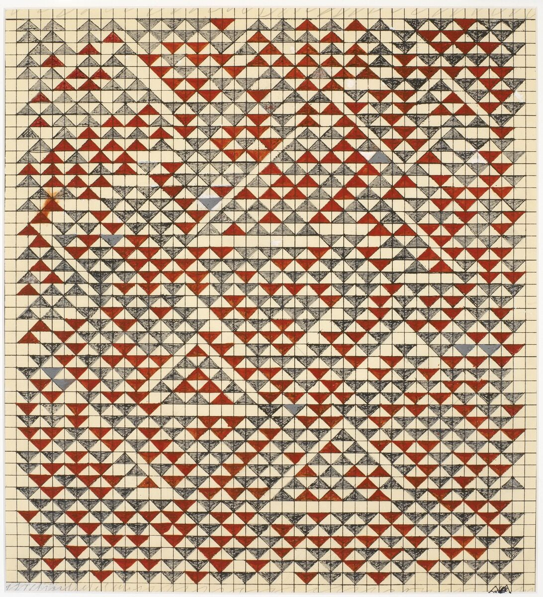 Anni Albers, Estudio para Camino Real, 1967. © The Josef and Anni Albers Foundation / Artists Rights Society (ARS), Nueva York 2019. Foto de Tim Nighswander / Imaging4Art.  Cortesía de The Art Institute of Chicago.
