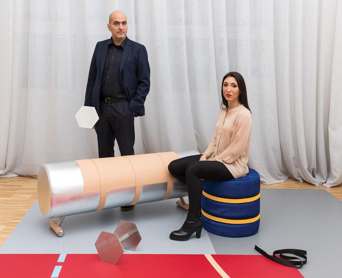 Portrait of Alberto Biagetti and Laura BaldassaribyDelfino Sisto Legnani, courtesy of Secondome.