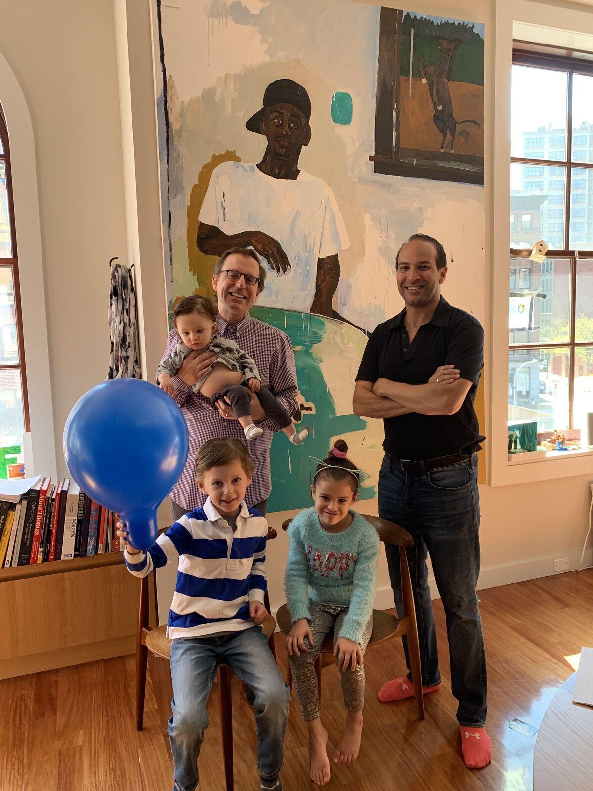 Bernard Lumpkin, Carmine Boccuzzi, and their children with Henry Taylor, The Sweet William Rorex Jr., 2010. Courtesy of Bernard Lumpkin.