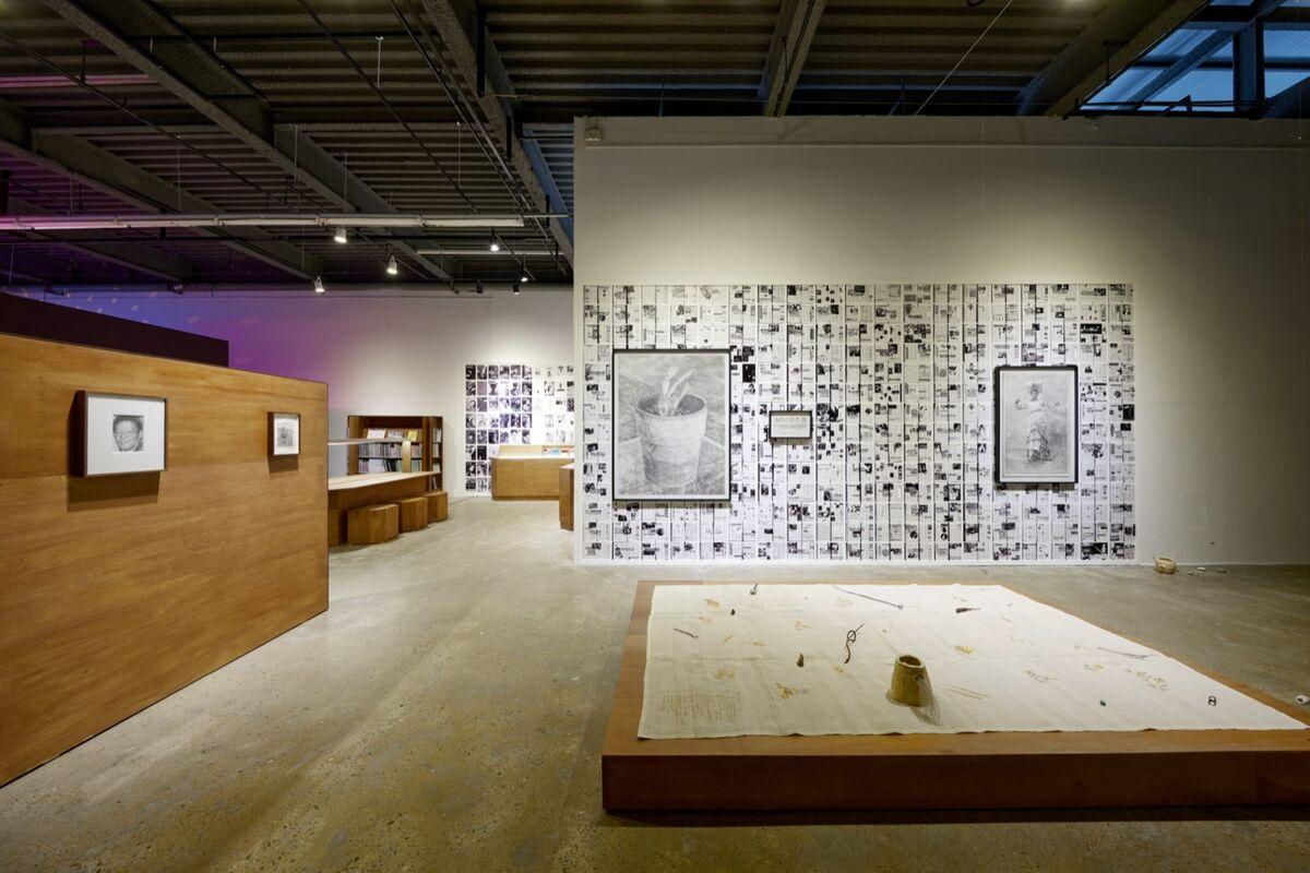 Kang Seung Lee, installation view of Untitled (QueerArch), 2018–21, in the 13th Gwangju Biennale, Gwangju, 2021. Photo by Sang tae Kim. Courtesy of the artist and the Gwangju Biennale.