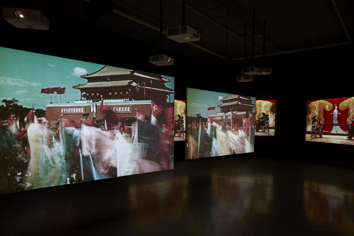 Installation view of Isaac Julien's Ten Thousand Waves, 2010. Courtesy of Zeitz MOCAA.