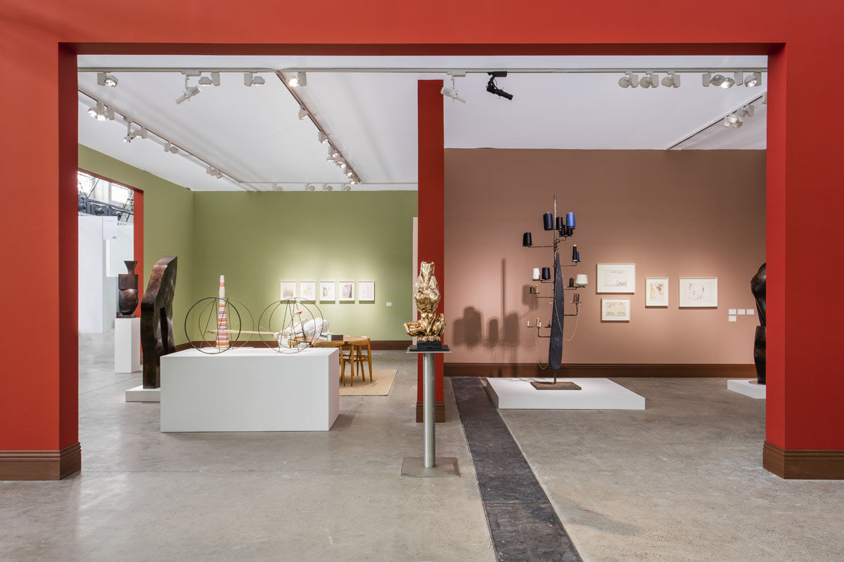 Installation view of Hauser & Wirth's booth at West Bund Art & Design, 2017. Courtesy of Hauser & Wirth.