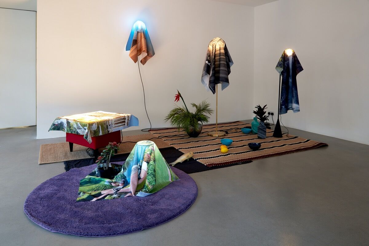 "Nabuqi, installation view of How to Be ""Good Life,"" 2019, at Sadie Coles HQ, 2020. Courtesy of the artist and Edouard Malingue Gallery."